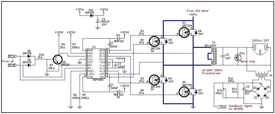 Schema Elettrico Inverter : Schema inverter di potenza fare una mosca
